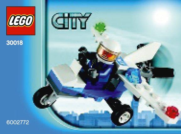 Схемы и инструкции LEGO City - Police Plane (Полицейский самолётик) - Lego City 30018.