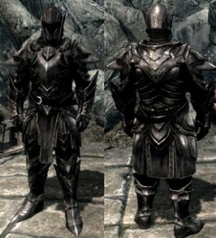 skyrim dark brotherhood armor retexture  Skyrim-ebony-armor-and-weapon-re...