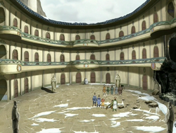 Northern Air Temple courtyard