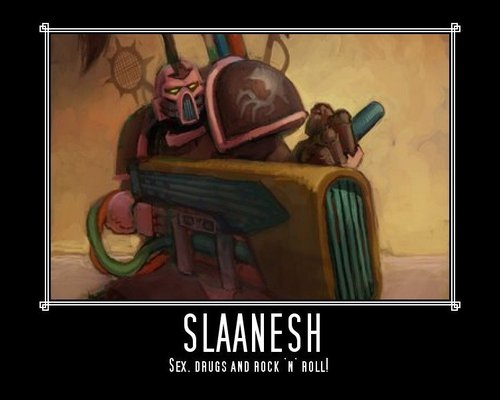 Slaanesh motivational poster by vulder13-d33p2vg