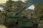 Heavy Tank destroyed in forest