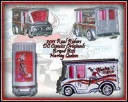 2011 HW Real Riders DC Comics Originals Bread Box Harley Quinn