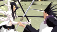 Nnoitra and Kenpachi cross blades episode 4 SR