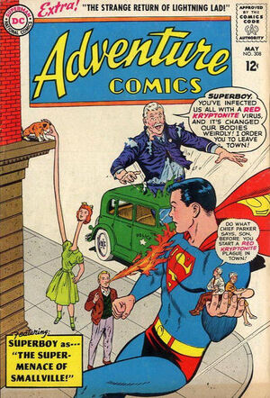Cover for Adventure Comics #308