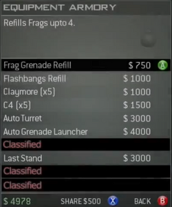 Survival Mode Screenshot Equipment Armory Frag Refill