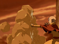 Aang creates earth wall.png
