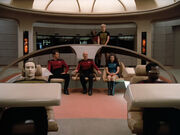 USS Enterprise-D Crew, Farpoint Mission