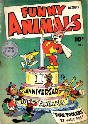 Cover for Fawcett&#39;s Funny Animals #11