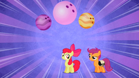 Scootaloo adding idea to Apple Bloom's name S2E6