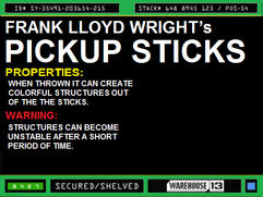 Frank Llyod Wright's Pick Up Sticks