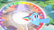 Filly Rainbow Dash sonic rainboom S1E23