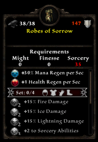 Robes of sorrow