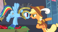 201px-Rainbow Dash and Applejack arguing S2E11