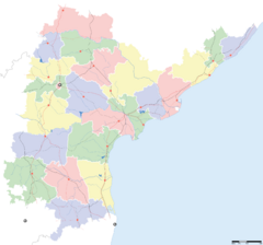 Andhra Pradesh locator map