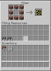 Filler interface