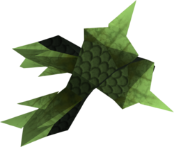 Green spiky vambraces detail