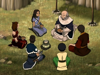 Iroh with Team Avatar