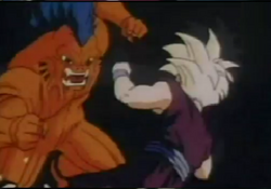Monster attacks gohan