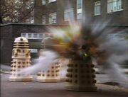 Imperial Daleks explode retreat