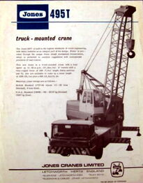 JONES 495T Cranetruck
