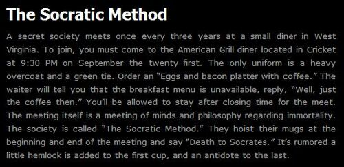 an analysis of the socratic method The socratic method i've written a few times about how stoicism is a leading influence on cognitive behavioural therapy (cbt) however, as important an influence is socrates, the father of western philosophy, though his influence on modern psychotherapy is less remarked upon.