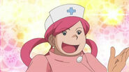 Stephan dressed as Nurse Joy