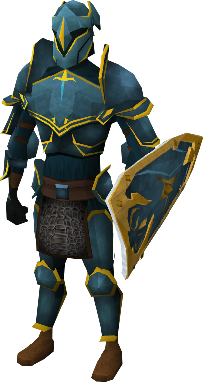 Rune gold trimmed armour set lg the runescape wiki
