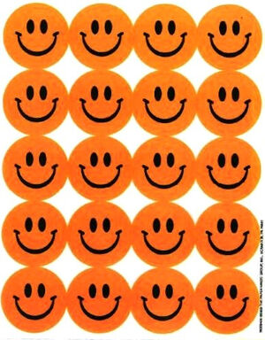 Orange Happy Faces