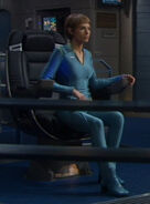 T&#39;Pol&#39;s casual uniform, blue