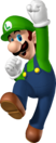 Jumping Luigi Artwork - New Super Mario Bros