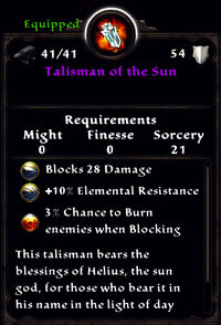 Talisman of the sun