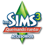 Logo sims 3 quemando rueda