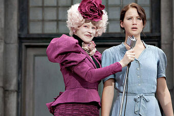 Effie &amp; Katniss at reaping