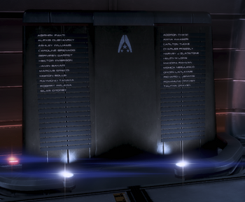 ME3 Memorial Wall