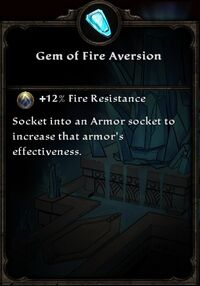 Gem of Fire Aversion