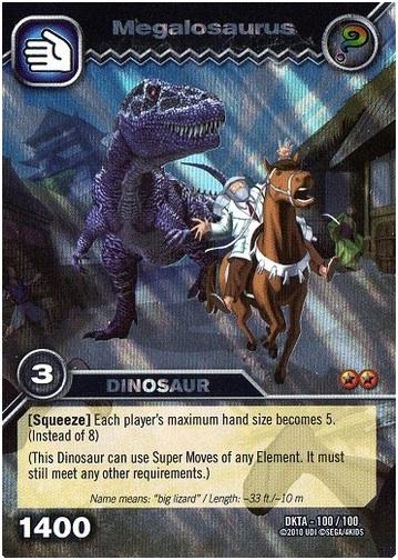 Full resolution      359   215  504 pixels  file size  111 KB  MIME type    Dinosaur King Megalosaurus Card