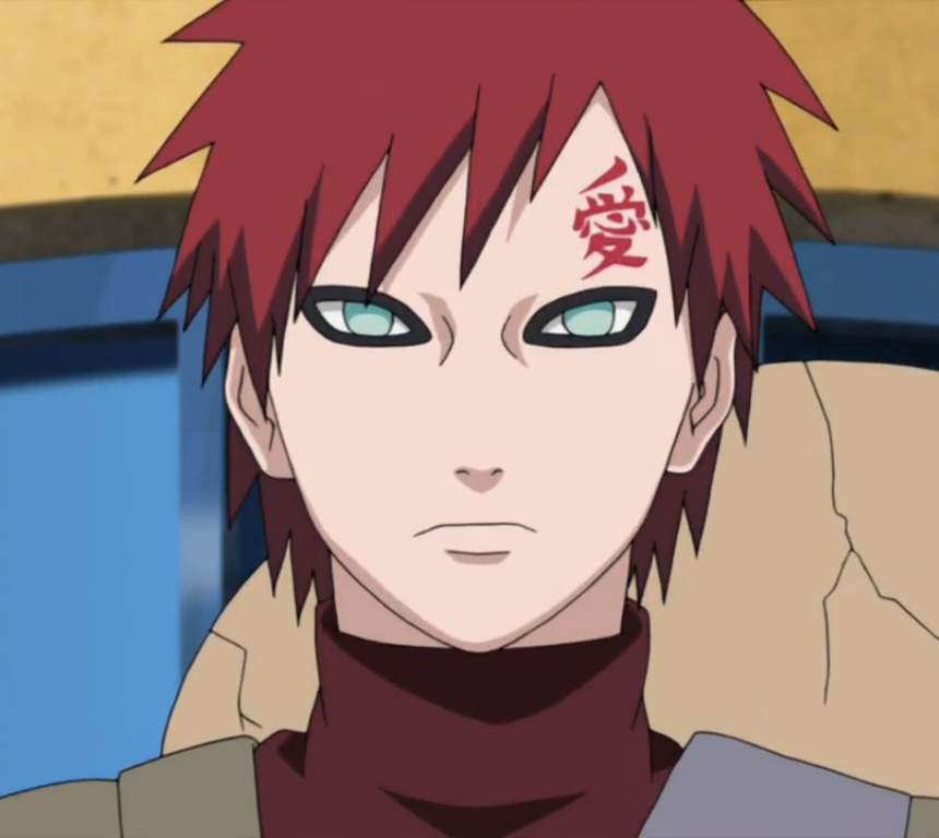 TIL That Gaara Does Not Have Eyebrows : Naruto