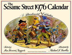 1976 sesame calendar 00 front cover