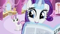 Rarity wants to borrow newspaper S2E23