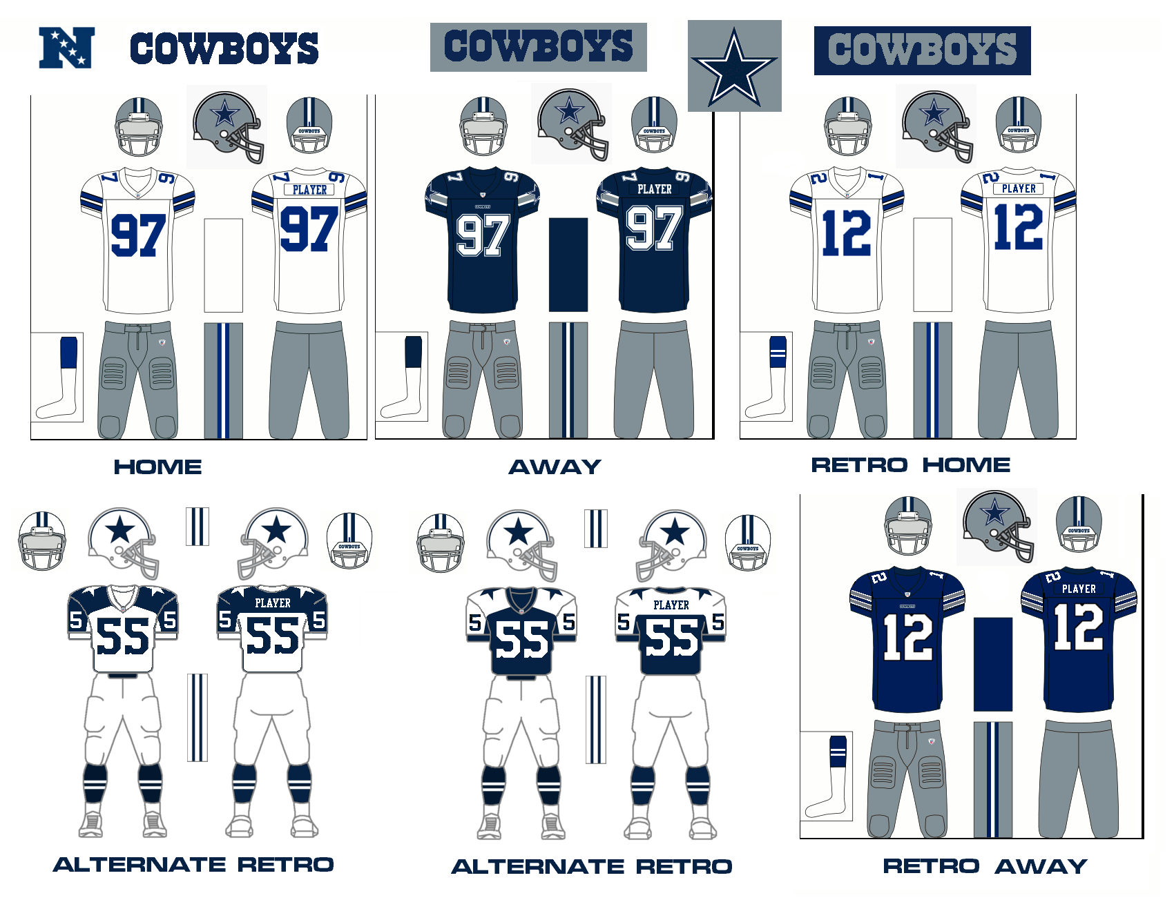 Dallas Cowboys Uniform Colors