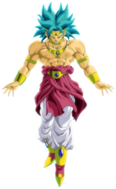 Broly super saiyan restinjido