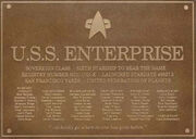 Enterprise-E dedication plaque