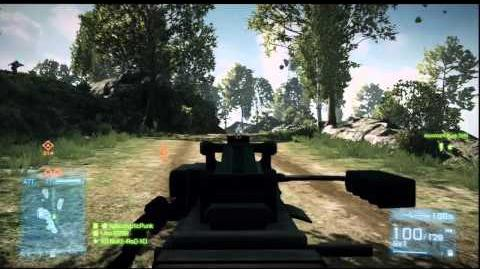 Battlefield 3 Type 88 LMG PS3 gameplay on Caspian Border