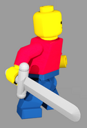 Bob Holding Sword