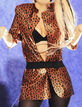 Atsuko Kudo Leopard Print Latex Jacket