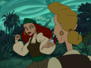 Elaine-punch-guybrush