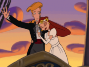 Elaine-guybrush-married