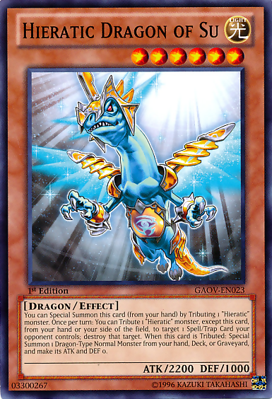 Shining the road to glory, join the Hieratic Dragons! HieraticDragonofSu-GAOV-EN-C-1E