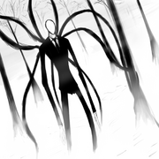 Slenderman white background