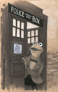 Amy Mebberson 11th Doctor Kermit tardis